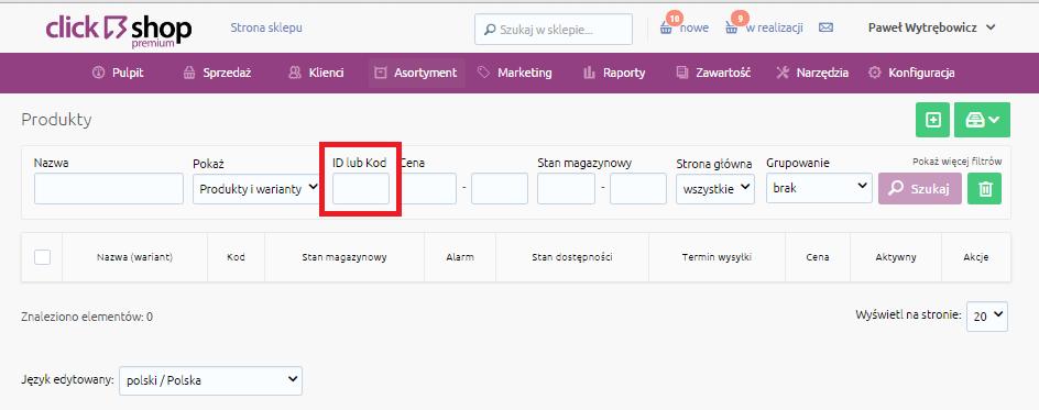 7ebf686a6 SUGESTIA - Wyszukiwanie w Panelu - > Produkty po kodzie producenta ...